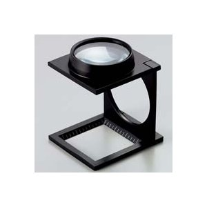 ルーペ 虫眼鏡 リネンテスター 7660 5倍 43mm ダブルレンズ ブラック ミリ&インチメモリ 測量,検査用ルーペ 日本製 池田レンズ|loupe
