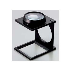 ルーペ 虫眼鏡 リネンテスター 7670 4倍 48mm ダブルレンズ ブラック ミリ&インチメモリ 測量,検査用ルーペ 日本製 池田レンズ|loupe