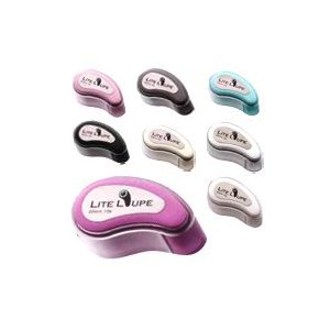 LED付ルーペ 虫眼鏡 LEDライト付き 宝石用 10倍 ルーペ 携帯ストラップ付 LITE LOUPE 8色カラールーペ アクセサリー loupe