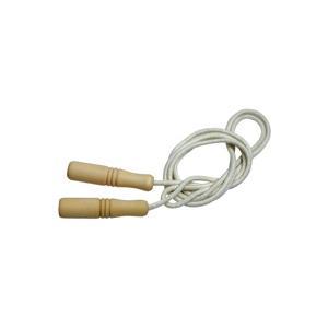 縄跳び 子供用 ロープ 綿 220cm 幼児 木柄 木製グリップ 長さ調節可能 なわとび とびなわ 縄飛び 外遊び おもちゃ