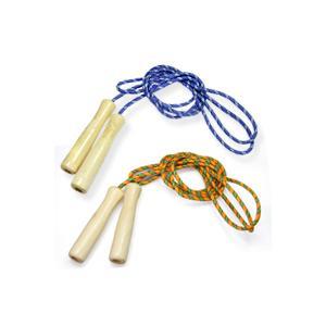 縄跳び 子供用 ロープ 215cm 木柄カラー 木製グリップ 運動会 体育祭 トレーニング ダイエット なわとび 縄跳び 縄飛び とびなわ 運動神経
