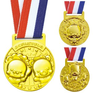 3D合金 メダル 金メダル キッズ 幼稚園 保育園 運動会 表彰 景品 イベント