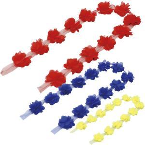 ハサミで切って自由に使える素材!腕輪や、髪飾りに最適!サイズ:全長/1m、花/約60×60mm ■商...