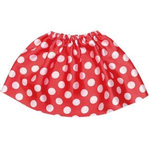 大きな水玉のふんわりスカート。「かんたんりぼんカチューシャ赤」とあわせてもかわいい!サイズ:300m...