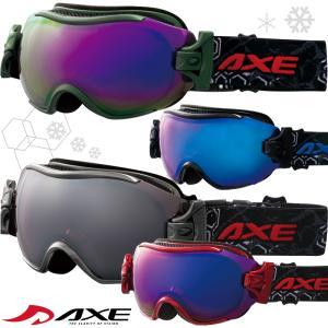 ゴーグル ダブルレンズ 曇り止め機能付き AX750-WCM AXE スキー スノーボード ゴーグル スノーゴーグル アックス|loupe