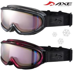 ゴーグル 眼鏡対応 日本製 ダブルレンズ 曇り止め AX888-WPK スキー スノーボード AXE アックス 20-21カタログモデル ヘルメッ|loupe