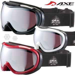 ゴーグル 眼鏡対応 ダブルレンズ 曇り止め OMW-780 スキー スノーボード AXE アックス 20-21カタログモデル ヘルメット対応 スノ|loupe