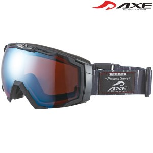 ゴーグル 眼鏡対応 スノーボード スキー ダブルレンズ ミラー 曇り止め 17-18カタログモデル メンズ ヘルメット対応 スノーゴーグル AX7|loupe