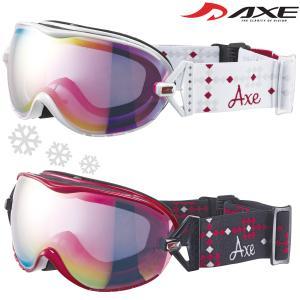 ゴーグル レディース 女性用 スノーボード スキー 曇り止め 20-21カタログモデル AX650-WCM ダブルレンズ スノーゴーグル ヘルメッ|loupe