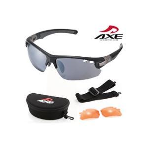 スポーツサングラス サングラス AX407-DPX UV400 AXE アックス スポーツサングラス loupe