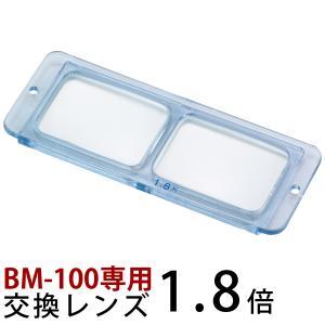 ヘッドルーペ 双眼 交換レンズ BM-100A1 1.8倍 BM-100専用 池田レンズ|loupe
