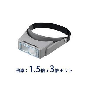 ヘッドルーペ 拡大鏡 メガネ ヘッドルーペ 双眼ヘッドルーペ BM-116 1.5倍 3倍 双眼ルーペ ヘッドバンド式|loupe