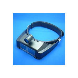 ヘッドルーペ 拡大鏡 メガネ ヘッドルーペ ライト付 双眼ヘッドルーペ ヘッドバンド式 1.8倍 2.3倍 3.5倍 双眼ルーペ|loupe