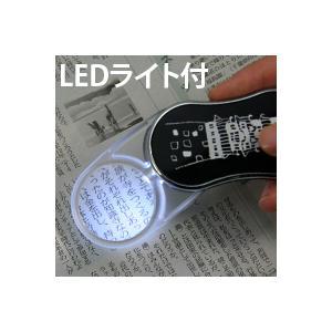 LEDライト付き スイングルーペCLE-35P 3.5倍 35mm 城 ポケットルーペ スライドルーペ|loupe