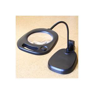 LED付ルーペ アウトレット 虫眼鏡 卓上 拡大鏡 スタンド ルーペ 大型レンズ スタンドルーペ LEDライト付 CMS130 2倍 130mm|loupe