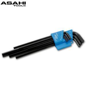 ロング 六角棒レンチセット 7本組 2.5-10mm ALS0790 旭金属工業 工具 DIY レンチ ハンドツール 修理 作業用工具|loupe