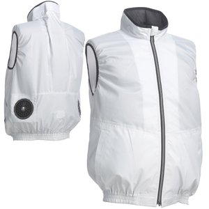 ワークベスト ポリ100% シルバーグレー ベスト型服地 COOLING BLAST LX-6700WVS 空調服のように使える作業服 作業着 リン|loupe