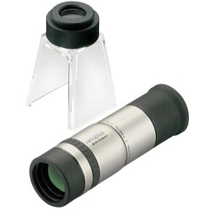 バリオプラス 単眼鏡 8倍 + スタンドルーペ 24倍 エッシェンバッハ ルーペ スタンド 高倍率 作業 検査 検品|loupe