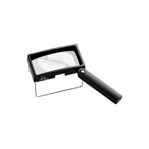 ルーペ 虫眼鏡 卓上置き型ハンドスタンドルーペ 2.6倍 50×100mm 2036 ルーペ スタンド ハンドルーペ combi-plus 卓上 拡大|loupe