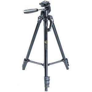 三脚 一眼レフ ビデオカメラ ハンディカム対応 ブラック コンパクト カメラ 軽量 小型 3WAY アルミ VK 204AP 4段 バンガード おすす loupe
