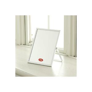 特許の映り・輝き・ナピュアガラスミラー仕様のアルミ卓上ミラー。シンプルだからどんなお部屋にもマッチ!...