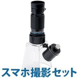 LEDライト付き マイクロスコープ KMS-616LS 20倍 小型顕微鏡 スマホ撮影セット ギャラリースコープ LEDライト付きルーペスタンド セッ|loupe