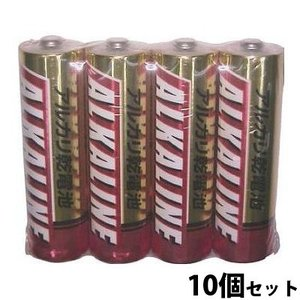 三菱 アルカリ乾電池 アルカリ電池 乾電池 単3 単三 LR6R/4S 10個セット|loupe