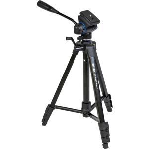 ビデオ専用2ウェイ雲台を搭載した、ファミリー向けベーシック4段三脚。全高:1,579mm ■全高:1...