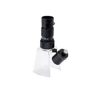 LEDライト付き マイクロスコープ KM-412LS 12倍 小型顕微鏡 ギャラリースコープ KM-412 LEDライト付きルーペスタンド KM-1|loupe