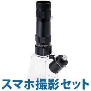LEDライト付き マイクロスコープ セット KM-820LSM 25倍 小型顕微鏡 スマホ撮影セット スマホアダプター|loupe