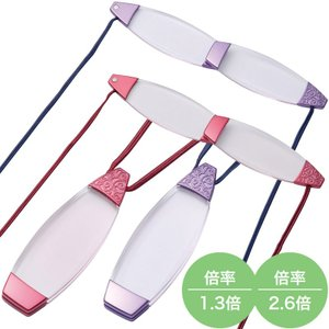 ニコン ペンダントルーペ アラベスク FP7 ルーペ ペンダント ネックレス おしゃれ 携帯 メガネ型 ネックストラップ|loupe