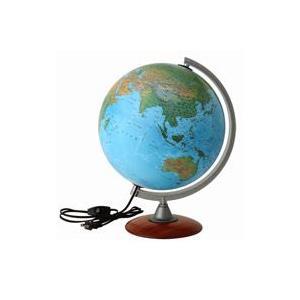 地球儀 入学祝い 小学校 子供用 学習 インテリア ライト付き スペース30L 地勢図 球径30cm オルビス|loupe