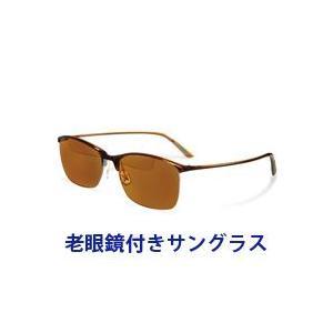 メンズ 偏光サングラス 老眼鏡付き 偏光サングラス Top View トップビュー バイフォーカルグラス TP-12 ブラウン 偏光グラス|loupe