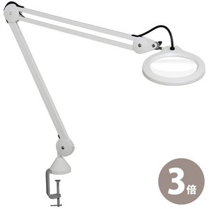 LED照明拡大鏡 LFM LED G2 3倍 フリーアーム式 明るさ調節機能付 X3 オーツカ光学 ルーペ 拡大鏡 ライト付き 虫眼鏡 虫めがね 工具|loupe