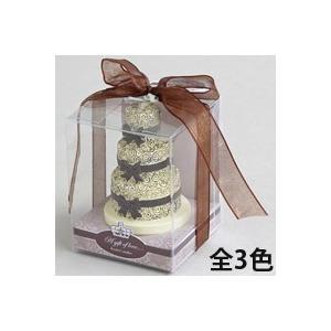アロマキャンドル ウェディングケーキ ローズの香り バロエ デコレーション|loupe