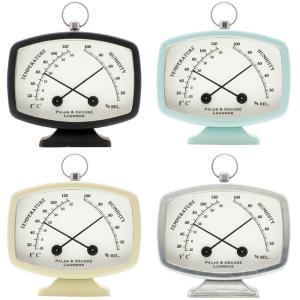 ポーム コンパクト温湿度計 温度計 湿度計 おしゃれ かわいい コンパクト 雑貨 インテリア loupe