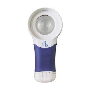 ルーペ LEDライト付き 携帯 高倍率 おすすめ 虫眼鏡 拡大鏡 弱視 11倍 40mm 検査 検品 ロービジョン オートタッチ マックス AT・MA loupe
