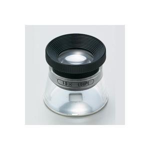 虫眼鏡 スケールルーペ SL-15 15倍 20mm 0.1mm アルミ目盛付き 測量,検査用 池田レンズ|loupe