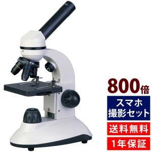 学習用 顕微鏡 子供 スマホ撮影セット 小学生 2WAY マイクロスコープ 40X-800X #800 自由研究 生物顕微鏡|loupe