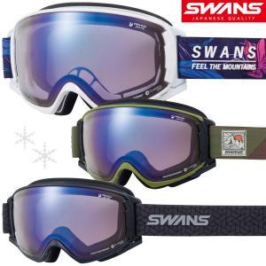 スキー スノーボード ゴーグル スワンズ 曇り止め ダブルレンズ 18-19カタログモデル ROV O-U/MDH-SC-PAF MBKF ULT|loupe