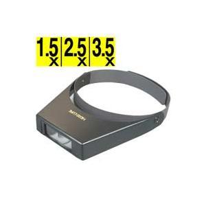 ヘッドルーペ 拡大鏡 メガネ ヘッドルーペ 双眼ヘッドルーペ レンズ3枚付き 1.5倍 2.5倍 3.5倍|loupe
