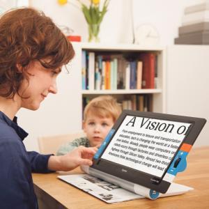 持ち運べる卓上型 拡大読書器 トラベラー HD あんしんアフターサービスセット Times おすすめ 視覚障害|loupe