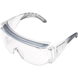 ウィルス対策 ゴーグル 防塵 眼鏡の上からかけられる ミドリ安全 一眼型 保護メガネ オーバーグラス...