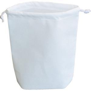 TRUSCO トラスコ中山 不織布巾着袋 B5サイズ マチあり ホワイト 10枚入 [HSB5-10...