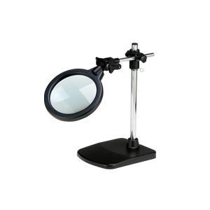 ルーペ 虫眼鏡 超大口径 スタンドルーペ 高さ調節機能付き 倍率2倍 ルーペ スタンド|loupe