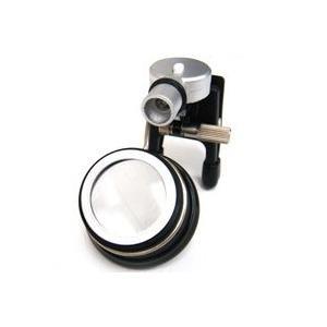 LED付ルーペ LEDライト付 クリップルーペ 5倍 眼鏡に取り付け 両手が使える 時計見|loupe