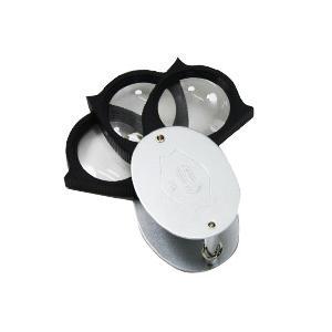 ルーペ 虫眼鏡 メタルポケットルーペ 21倍 携帯用|loupe