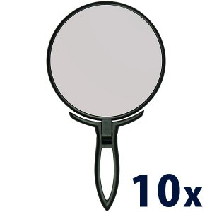 拡大鏡 10倍 拡大ミラー スタンド & ハンドミラー 鏡 手鏡 スタンドミラー|loupe