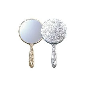 手鏡 ハンドミラー 手鏡 メッキハンドミラー S 姫系 デコラティブ キラキラ ミラー 鏡 メイク用|loupe