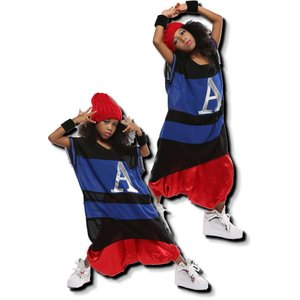 キッズ ダンス 衣装 値下げ!在庫限り!超ビッグ! ボーダー シフォン トップス 男女兼用 ヒップホップ Tシャツ キッズダンス衣装 love-bb2005 03